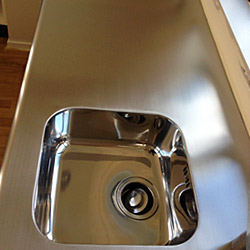 Before and After - Kitchen Benches and Sinks - Stainless Restorations